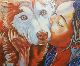 Cesar Alvarez - Puro Amor (Pure Love) Oil on Canvas, Paintings