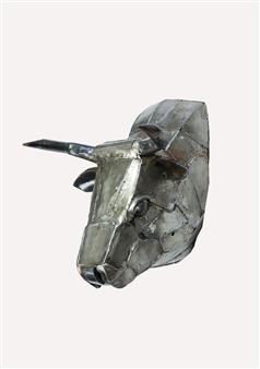 Lida Boonstra - Bull leftside Unicum in Steel, Sculpture