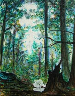 Kenji Inoue - Morigoo Oil on Canvas, Paintings