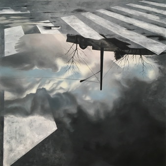 Shabnam Yousefian - Reflection Oil on Canvas, Paintings
