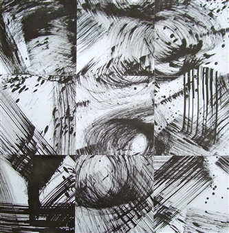 Ken Wada - Untitled No.34 India Ink on Paper, Drawings