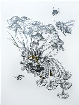 Stephanie E. Graham - Cluster Pen on Paper, Drawings