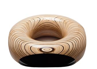 Iftah Geva - Table - Solar Plexus Carbon Fiber and Wood, Sculpture