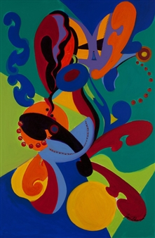 Jessie Banaszak - Jazz Movement Acrylic on Canvas, Paintings