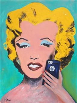 Marlene Kurland - Modern Marilyn Oil on Canvas, Paintings