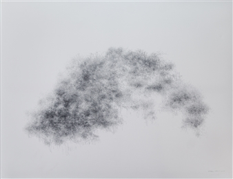 Michelin Basso - Untitled Graphite on Canvas, Drawings