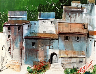 Roger DiCamillo - Cansano Italy Oil on Canvas, Paintings