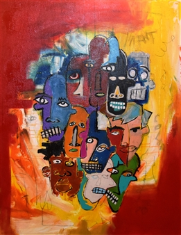 "Bulsby ""Buzz"" Duncan - Identity Oil & Mixed Media on Canvas, Mixed Media"
