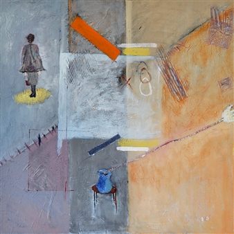 Kerstin Lundin - Guidance Oil & Mixed Media on Canvas, Mixed Media