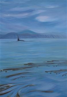 Johanna Wray - The Visitor Acrylic on Canvas, Paintings