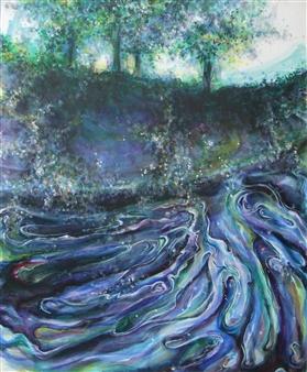 Kenji Inoue - Nagare Acrylic on Canvas, Paintings