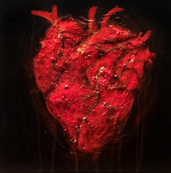 Mark Reese - Bleeding Heart Acrylic on Canvas, Paintings