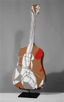 Heesu Choi - Wild Sound-D Acrylic on Sewing Jute, Sculpture