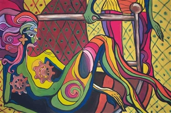 Falcan Iulia-Lavinia - Bedtime Acrylic on Canvas, Paintings