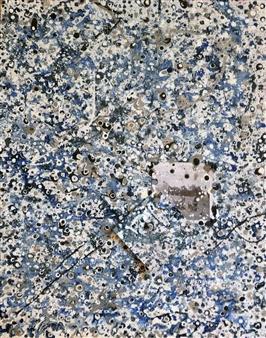 Maria Fernandez Gold - Birchmont Blue Acrylic & Mixed Media on Canvas, Mixed Media