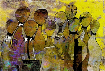 Goodash - Happy Hour Digital Print on Canvas, Prints
