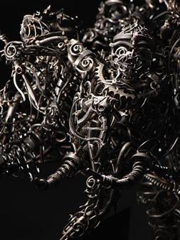 Banjerd Lekkong - View 4 - 11 Monkey Kings Metamorphosed into Three-Headed Elephant (The Mighty Erawan) Iron