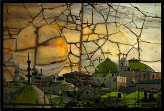 Goodash - Jerusalem of Gold and Green Digital Print on Canvas, Prints