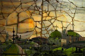 Goodash - Jerusalem of Gold and Green Digital Print on Canvas, Prints