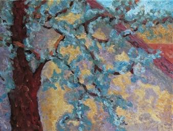 Isabella S. Minichmair - Summer Haze II Oil on Canvas, Paintings
