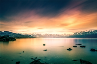 Karl Girardet - Winter Colors in Switzerland Photograph on Baryta Paper, Photography