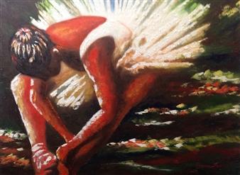 Cesar Alvarez - Preparación Oil on Canvas, Paintings