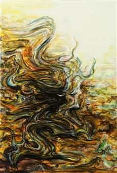Kenji Inoue - Frog Teacher Oil on Canvas, Paintings