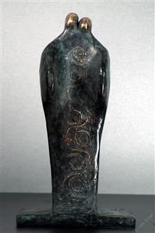 Yetty Elzas - Kneeling Bronze, Sculpture
