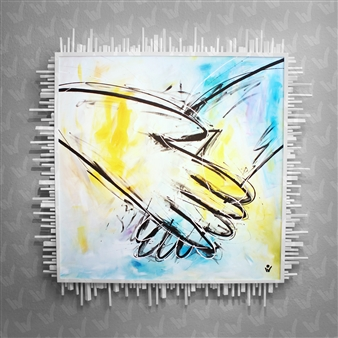 Sven Weigle - Touch Acrylic on Canvas, Paintings