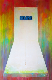 Mague Brewer - Believe Acrylic, Gouche & Mixed Media on Canvas, Paintings