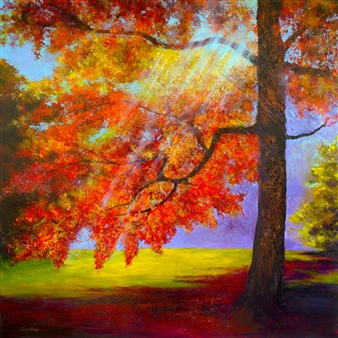 Cindy Parsley - Shining Through Acrylic on Canvas, Paintings