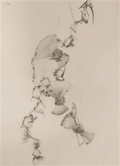 Pep Mazzini - Stream Charcoal & Graphite on Paper, Drawings