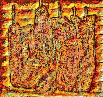 Sergey Kir - Castle of Manhattan Digital Print on Canvas, Prints
