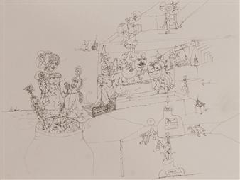 Pep Mazzini - Magic World Marker on Paper, Drawings