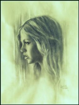 Charlotte Lisboa - Angel Graphite on Paper, Drawings