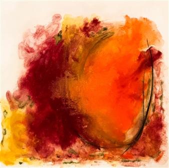 Susana Rapallo - Reflec - Doubt Oil & Pastel on Canvas, Paintings