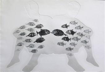Juan Salazar - From the Series Contracorriente 15 Collograph, Prints