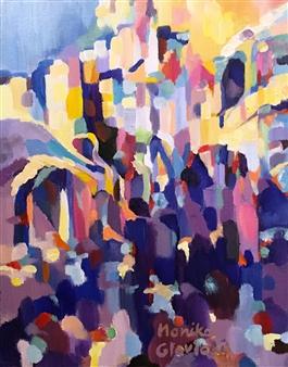 Monika Gloviczki - Open House Oil on Canvas, Paintings