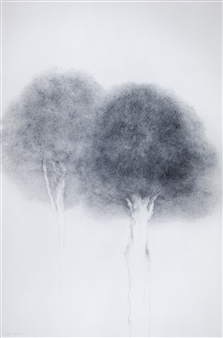 Michelin Basso - Untitled 2 Graphite on Canvas, Drawings