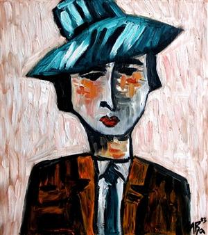 Iva Milanova - Dandy Oil on Canvas, Paintings