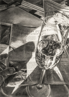 Cynthia Evers - Matin Crayon on Board, Drawings