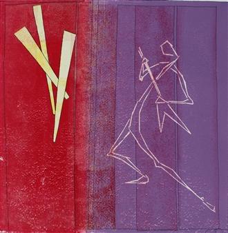 Eva Otterström - Let´s dance VII Linocut, Prints
