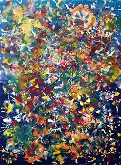 Maria Fernandez Gold - Fireworks Encaustic on Board, Paintings