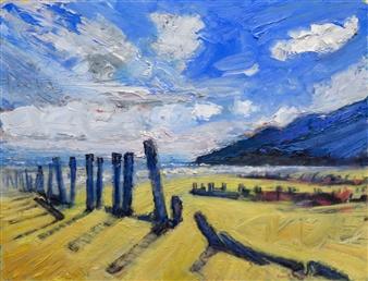 Robert Ellison - Newcastle Beach County Down Oil on Canvas, Paintings