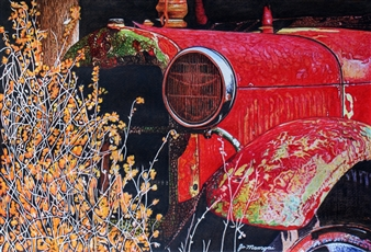 Josie Mengai - Old Car Digital Print on Aluminum, Prints