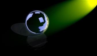 Bill Dixon - Green Sphere Digital Art and Acrylic on Canvas, Digital Art