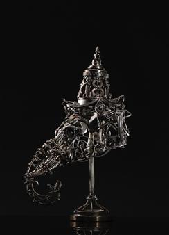 Banjerd Lekkong - Ganesha Head Iron, Sculpture