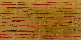 David Stanley Hewett - Legacy (2) Acrylic & Gold Leaf on Canvas, Mixed Media