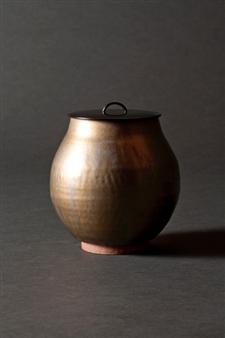 David Stanley Hewett - Round Covered Vase Ceramic, Sculpture