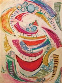 Joan Shimabukuro - Misenplasse Oil Pastel on Canvas Board, Drawings